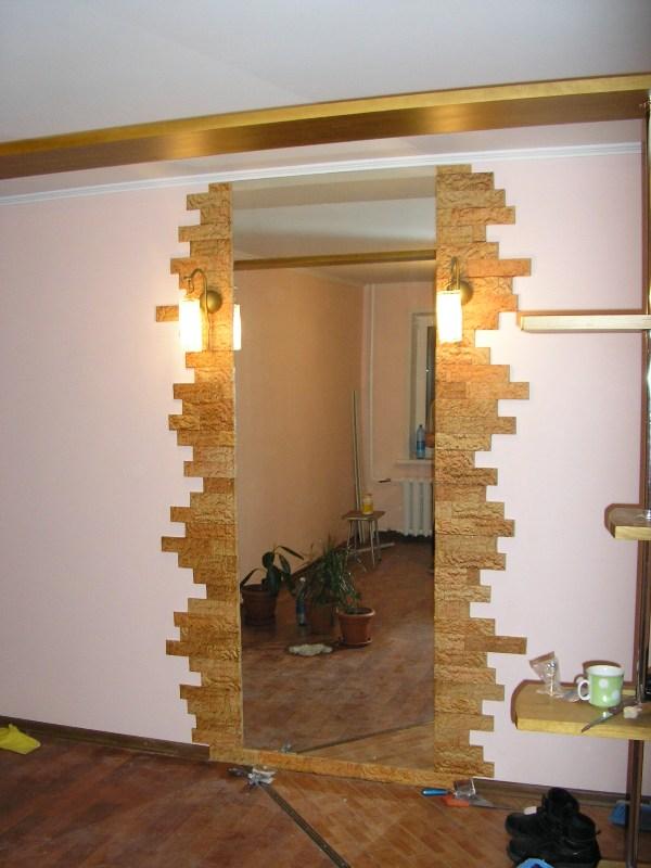 Дизайн зеркала в прихожей своими руками